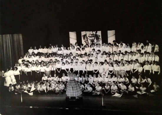 Ethel Jenkins Weinstein Conducting the Shule Chorus, May 7, 1961