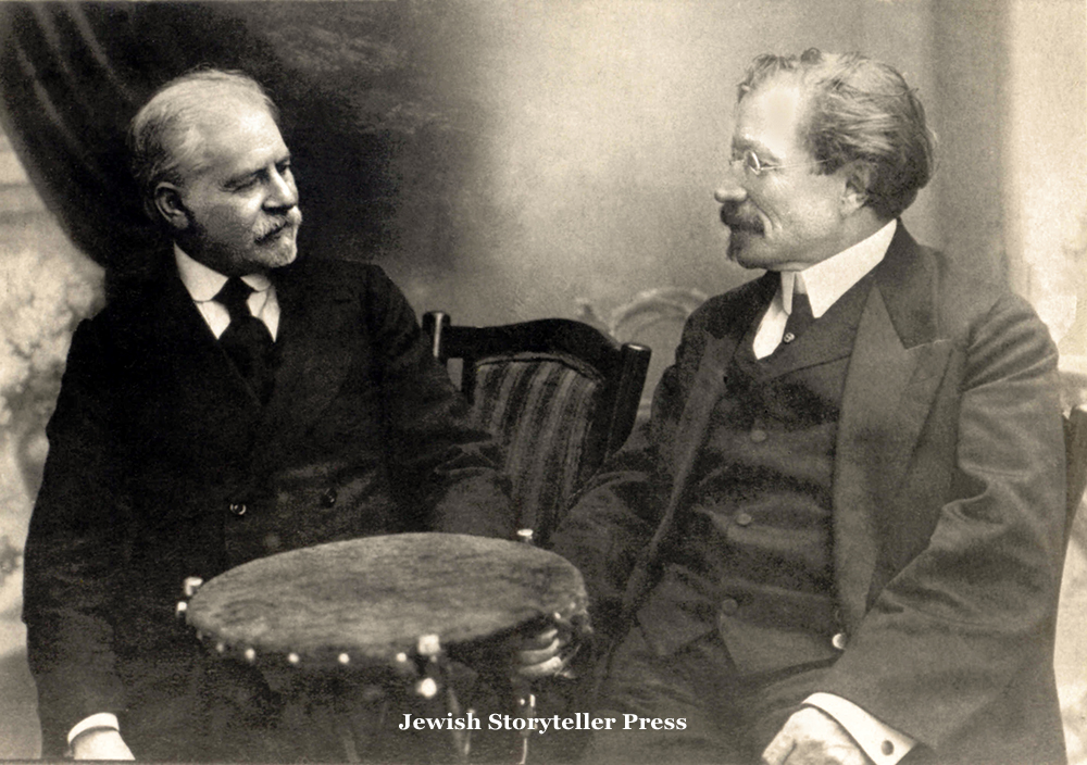 Jacob Dinezon Seated with Sholem Aleichem