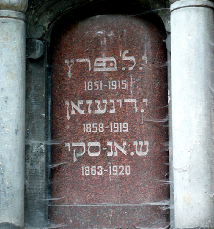 Mausoleum of the Three Writers Closeup