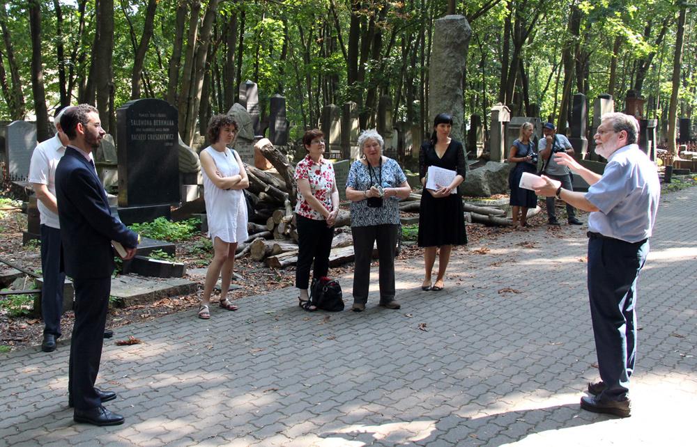 Scott Davis in front of Mausoleum to the Three Writers in Warsaw