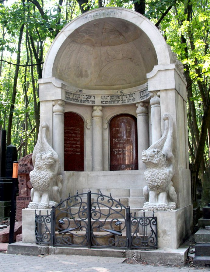 The Mausoleum of the Three Writers in Warsaw Poland