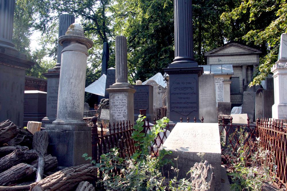 Jewish Cemetery in Warsaw Poland