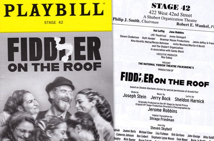 Yiddish Fiddler on the Room Program